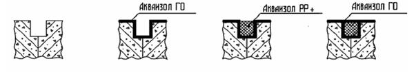 Шов бетонирования или трещина в бетоне
