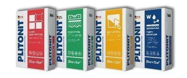 Разновидности клея Плитонит
